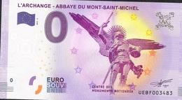 FRANCE EUROSOUVENIR NLP ZERO EURO MT ST MICHEL ARCHANGE  2017  UNC. - France