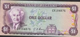 JAMAICA P54 1 DOLLAR 1960 Signature 3 VF NO P.h. ! - Jamaica