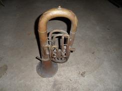Ancien Saxhorn,pas Cornet A Piston De Marque COUESNON,musique,fanfare,militaire. - Musical Instruments