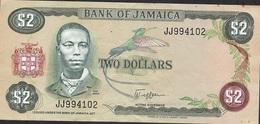 JAMAICA P65a 2 DOLLARS 1982 Signature 5 VF NO P.h. ! - Jamaica