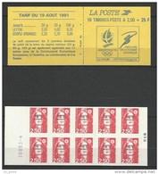 "SPM Carnet YT C557 "" Marianne 10 TP 2F50 Rouge Adhésifs "" 1992 Neuf** - Carnets"