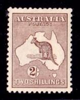 Australia 1916 Kangaroo 2/- Brown 3rd Watermark MH - 1913-48 Kangaroos
