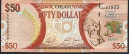 GUYANA P41 50 DOLLARS 2016 COMMEMORATIVE INDEPENDANCE UNC. - Guyana
