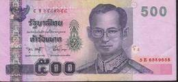 THAILAND P107b 500 BAHT 2001 Signature 75 VF NO P.h. ! - Thailand