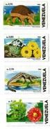 1986 1983 Venezuela Flora Fauna Armadillo Cayman Crocodile Complete Set Of 4  MNH - Venezuela