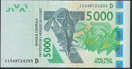 W.A.S. MALI  P417Di ? 5000 FRANCS (20)11   2011 UNC. - Mali