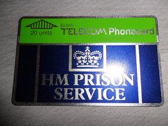 Telefoonkaart ( 57 )  Télécarte  Phonecard  Carta Telefonica  Tarjeta Telefonica Angleterre United Kingdom Prison - Royaume-Uni
