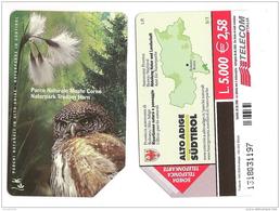SCHEDA TELEFONICA USATA BILINGUE Parchi Naturali Monte Corno AA96 -  AV2 - Italia