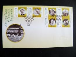 Cover Australia Olympic Games Sydney 2000 Special Cancel Fdc Olympic Legends - 2000-09 Elizabeth II