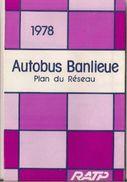 RATP (PARIS) - AUTOBUS BANLIEUE - PLAN DE RÉSEAU. - Europe