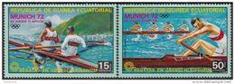 103 Guinea Equatoriale 1972  XX Olimpiade Monaco  Cannottaggio Full Set Nuova MNH Equatorial - Canottaggio