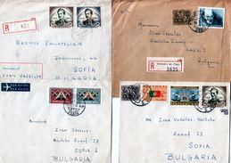 Lot 9 Envelope / Cover Portugal Traveled To Bulgaria (1962-1982 ) - 1910-... República