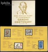 Mahatma Gandhi Centenary KIHADI PAPER 1969   Superb STAMPED FOLDER      India Indien Inde Freedom Struggle - Mahatma Gandhi