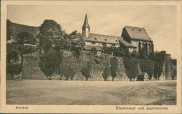 AK Frankfurt Höchst, Stadtmauer Und Justinikirche, Ca. 1910er Jahre (15444) - Frankfurt A. Main