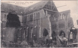LICHTERVELDE  KERK PUINEN  16 OKTOBER 1918 - Lichtervelde