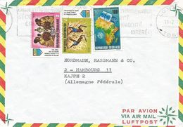 Togo 1972 Lome Space Intelsat UIT Pioneer Movement Agriculture Cover - Togo (1960-...)