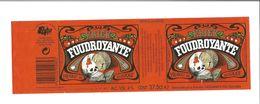"""Etiquette De BIERE BELGE """" Kriek Foudroyante """" - Beer"""