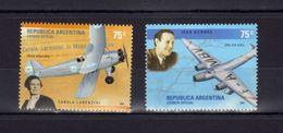 "Argentine Argentina Carola Lorenzini Et Avion Focke Wulf 44-J, Mermoz Et Avion Couzinet ""Arc-en-Ciel"" - Avions"