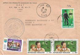 Togo 1977 Lome Lindbergh Tsetse Fly Eradication Insect Cover - Togo (1960-...)