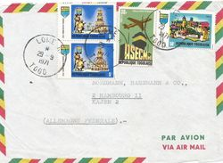 Togo 1971 Lome Air Traffic Control Pyramide Game Cover - Togo (1960-...)