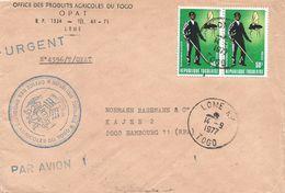 Togo 1977 Lome Tse Tse Fly Eradication Insect Cover - Togo (1960-...)