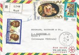 Togo 1972 Lome Hair Dress Coiffure Madonna Agriculture Registered Cover - Togo (1960-...)