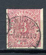 ALLEMAGNE - WURTEMBERG   N° Yvert 38 Obli. - Wuerttemberg