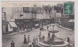 AUXERRE. Place Des Fontaines Et Rue Du Temple - Auxerre
