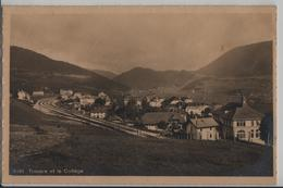 Travers Et Le College, Gare - Phototypie - NE Neuchatel