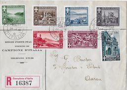 CAMPIONE → 1945 Lettera RACCOMANDATA Regie Poste Italia A Aarau/Svizzera ►RRR◄ - 1944-45 République Sociale