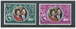 Fiji 1972 QEII Silver Wedding Set 2 FU - Fiji (1970-...)