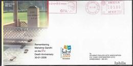 Mahatma Gandhi METER Cancel Special Cover Metre Postmark 2009  India Indien Indian Inde Indes Freedom Figher - Mahatma Gandhi