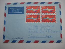 1969 , Mehrfachfrankatur Auf Luftpostbrief - BRD