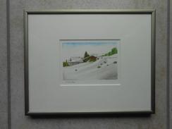 "Original Aquarell Schweiz ""Zernez"" GR - CHF 270,00  (BAR Oder 100% WIR) - Aquarelles"