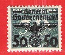 MiNr. 37 X  Deutschland Besetzungsausgaben II. Weltkrieg Generalgouvernement - Besetzungen 1938-45