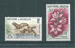St Pierre Et Miquelon  De 1959/62  N°361 Et 363  Neufs * - St.Pedro Y Miquelon