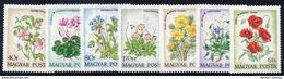 HUNGARY 1973 Meadow Flowers Set MNH / **.  Michel 2887-93 - Hungary