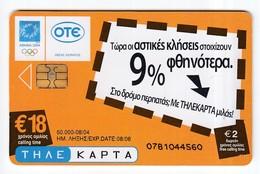 Telefonkarte Griechenland  Chip OTE   Nr. 1988    0781   Aufl. 50.000 St. - Greece