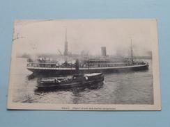 Départ D'une Des Malles CONGOLAISES () Anno 1911 ( Zie Foto Voor Details ) !! - Antwerpen