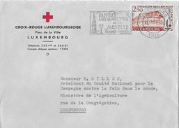 CROIX-ROUGE LUXEMBOURGEOISE → Lettre A 1963 - Private