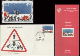Road Safety Cars Cycle Truck Transport Accidents FDC & Folder 1991 Health Indian Indien Inde Indes - Accidents & Road Safety
