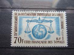 VEND BEAU TIMBRE DE LA COTE FRANCAISE DES SOMALIS N° 318 , X !!! - Unused Stamps
