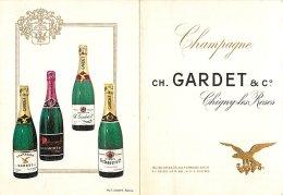CHAMPAGNE GARDET A CHIGNY LES ROSES BELLE PUBLICITE FORMAT PORTEFEUILLE - Werbung