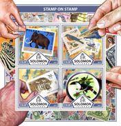 Salomon 2017, Stamp On Stamp, Mamuth, Bird, Tiger, WWF, Tucan, 4val In BF - W.W.F.