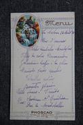 LAMALOU, Menu Daté Du 24 Aout 1936. - Menus