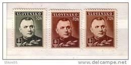 1939 /42 - President Tiso  Michel Nr.67/68- (x+Y)  3v.-MNH  Slovaquie / Slovakia - Neufs