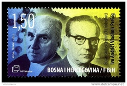 Bosnia And Herzegovina (Croatian) 2012 Mih. 342 Nobel Prize Laureates Ivo Andric And Vladimir Prelog MNH ** - Bosnien-Herzegowina