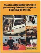 Fascicule Publicitaire Voitures Utilitaires Citroëne 2cv 3 Cv La Méhari L' Ami 8 L'ami Super La Gs Tolée - Publicités