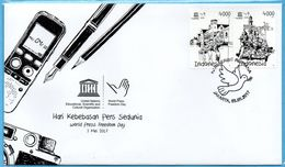 INDONESIA 2017-3 UNESCO WORLD PRESS DAY FDC STAMPS MNH - Indonésie