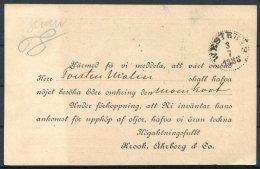 1888 Sweden Stationery Postcard Stockholm - Westeras - Sweden